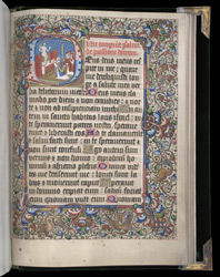 Historiated initial With The Mass Of St. Gregory, In A Book Of Hours